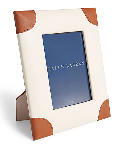"Ralph Lauren Ryan 5""x7"" Frame, Cream and Saddle"