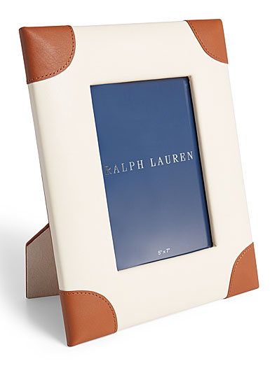 "Ralph Lauren Ryan 8""x10"" Frame, Cream and Saddle"