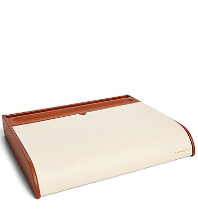 Ralph Lauren Ryan Desk Valet, Cream and Saddle