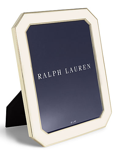 "Ralph Lauren Becker 5""x7"" Frame, Cream and Brass"