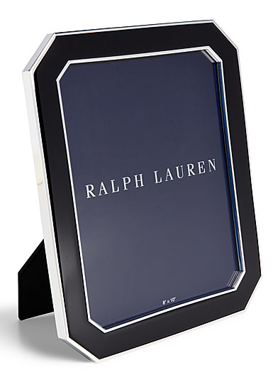 "Ralph Lauren Becker 8""x10"" Frame, Black and Silver"