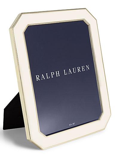 """Ralph Lauren Becker 8""""x10"""" Frame, Cream and Brass"""