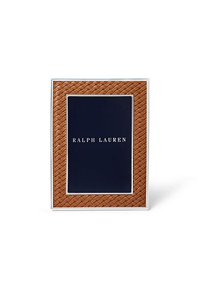 """Ralph Lauren Brockton 4""""x6"""" Frame, Saddle"""