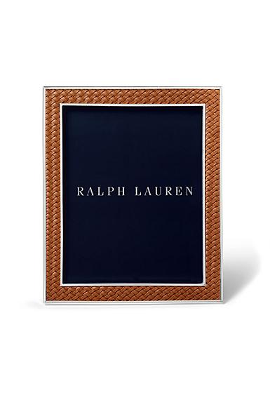 """Ralph Lauren Brockton 8""""x10"""" Frame, Saddle"""