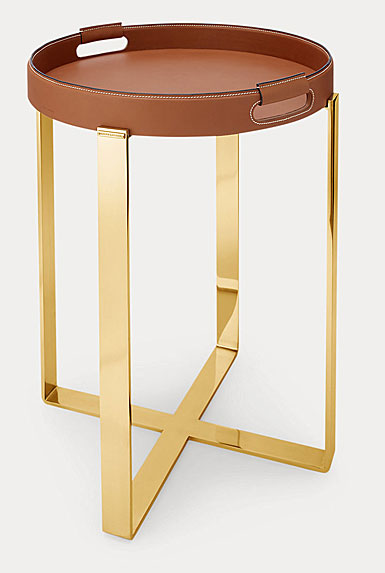 Ralph Lauren Wyatt Tray and Stand, Brown and Gold