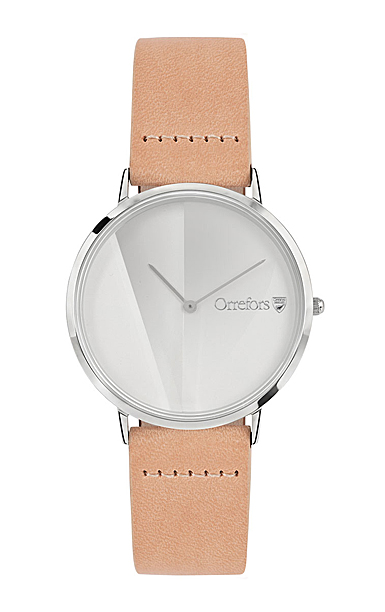 Orrefors Crystal O-Time Nature White Dial Watch