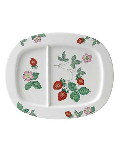 Wedgwood China Wild Strawberry Nurseryware Divided Dish