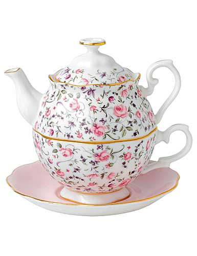 Royal Albert New Country Roses Tea Party Rose Confetti Tea For One