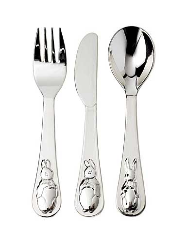 Wedgwood Peter Rabbit Silver Fork, Knife and Spoon Set