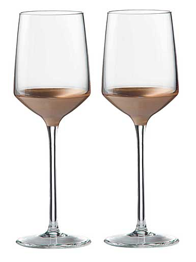 Wedgwood Arris Crystal Wine 8oz. Pair