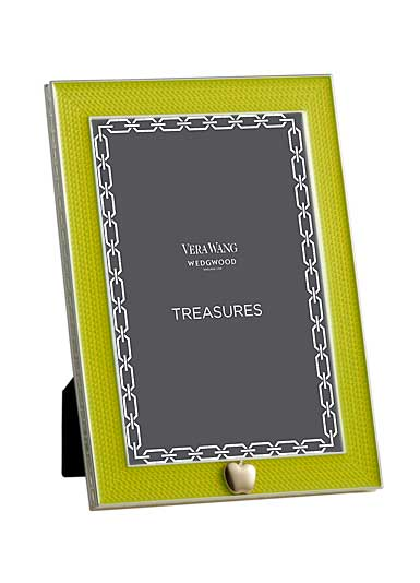 Vera Wang Wedgwood Treasures With Love Lime Green Apple 4x6 Frame