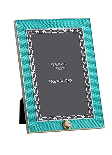 Vera Wang Wedgwood Treasures With Love Aquamarine Seashell 4x6 Frame