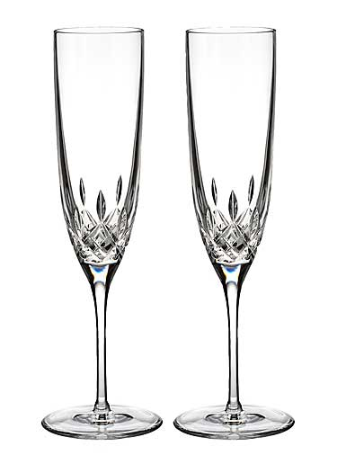 Waterford Crystal, Lismore Encore Champagne Crystal Flutes, Pair