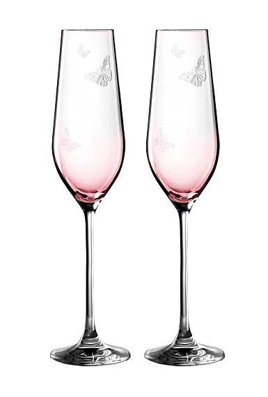 Miranda Kerr for Royal Albert Pink Crystal Flute, Pair