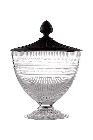 Wedgwood Iconic Crystal Vase with Jasper Lid, Medium