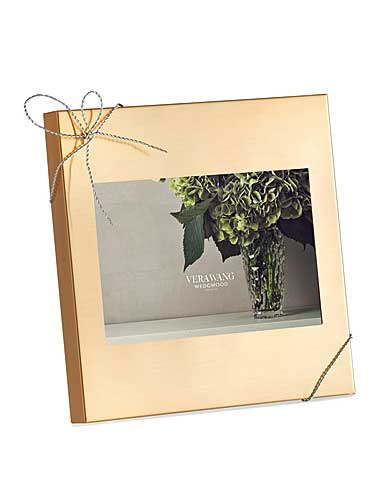 "Vera Wang Wedgwood Love Knots Gold 4x6"" Picture Frame"
