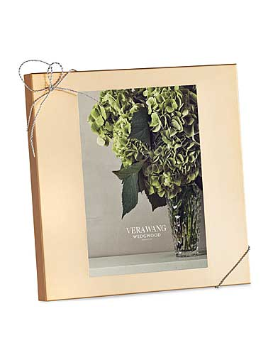 """Vera Wang Wedgwood Love Knots Gold 5x7"""" Picture Frame"""