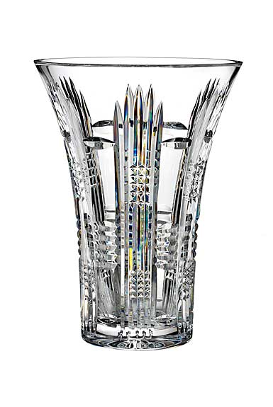"Waterford Crystal, House of Waterford Dungarvan 10"" Crystal Vase"