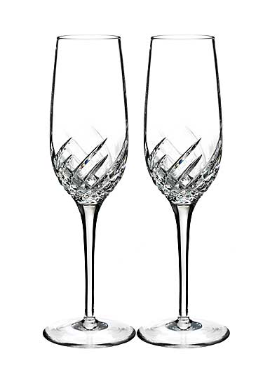 Waterford Crystal, Essentially Wave Crystal Flutes, Pair
