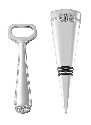 Wedgwood Vera Infinity Bottle Opener and Stopper Set