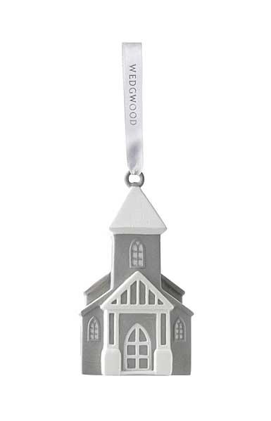 Wedgwood Figural Church Gray Ornament