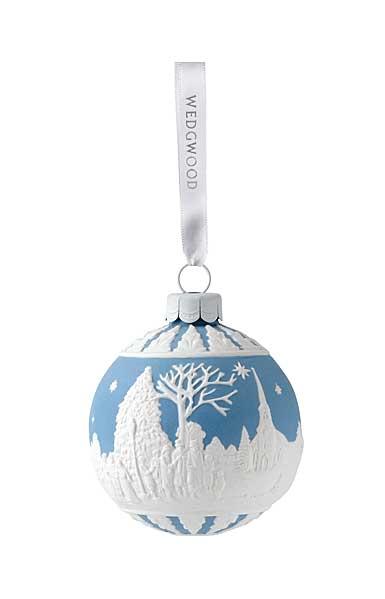 Wedgwood Carol Service Blue Ornament