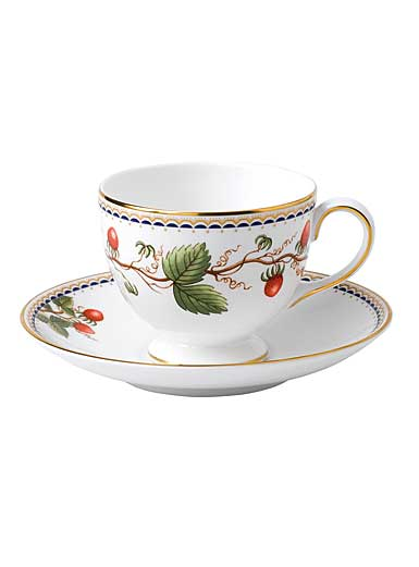 Wedgwood Prestige Wild Strawberry Archive Teacup and Saucer Set
