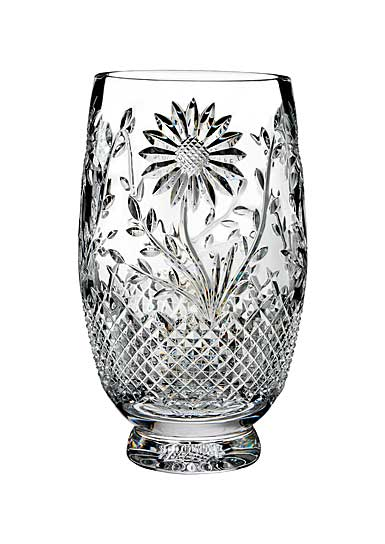 "Waterford Crystal, House of Waterford Sunflower 10"" Crystal Vase"