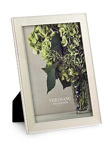 "Vera Wang Wedgwood With Love Nouveau 5""x7"" Picture Frame, Pearl"