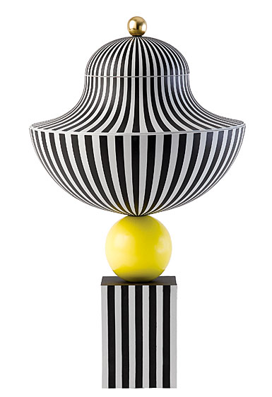 Wedgwood Prestige Jasperware Lee Broom Vase on Yellow Sphere, Limited Edition