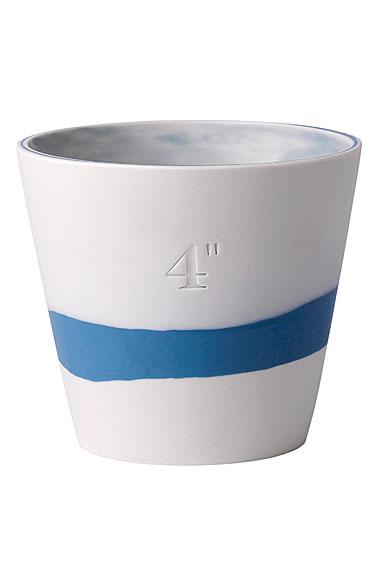 "Wedgwood Jasperware Burlington Pot 4"", Blue and White"