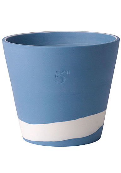 "Wedgwood Jasperware Burlington Pot 5"", Blue and White"