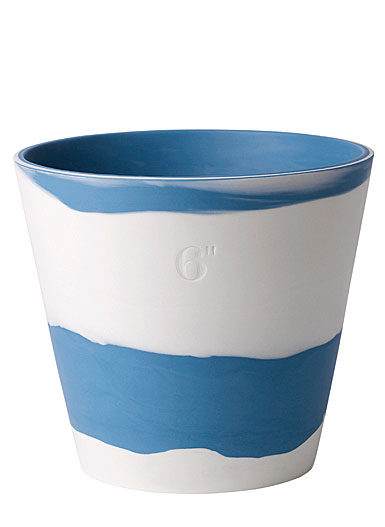 "Wedgwood Jasperware Burlington Pot 6"", Blue and White"