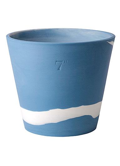 "Wedgwood Jasperware Burlington Pot 7"", Blue and White"
