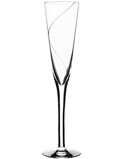 Kosta Boda Line Crystal Flute, Single