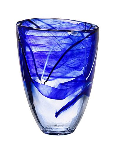 Kosta Boda Contrast Crystal Vase, Blue