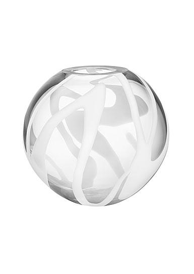 Kosta Boda Globe Crystal Vase, White
