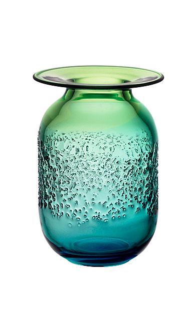 Kosta Boda Aurora Blue and Green Medium Crystal Vase