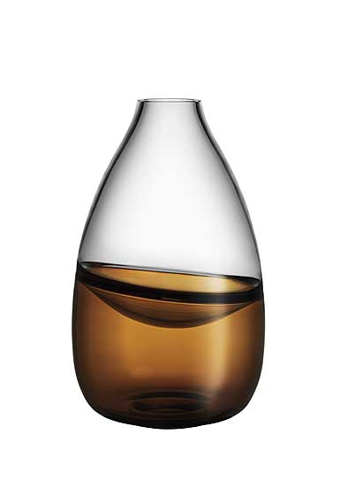 Kosta Boda Art Glass Mattias Stenberg Septum Vase, Golden Brown, Limited Edition of 300