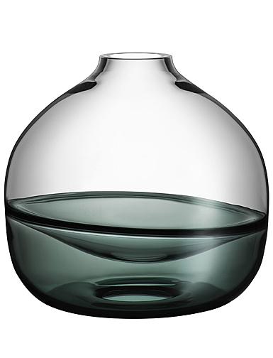 """Kosta Boda Crystal Septum Smoke Grey 8.5"""" Vase Limited Edition 300"""