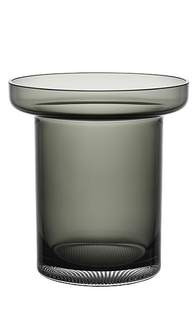 Kosta Boda Limelight Tulip Vase Smoke Grey