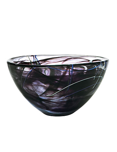Kosta Boda Contrast Small Crystal Bowl, Black