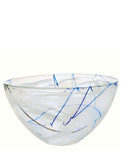 Kosta Boda Contrast Medium Crystal Bowl, White