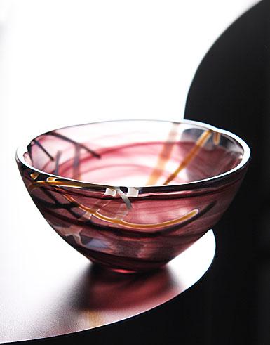 "Kosta Boda Contrast Bowl Small, Purple 6 1/4"""
