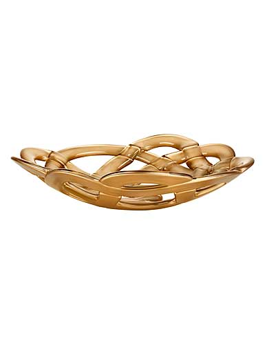 Kosta Boda Basket Large Crystal Bowl, Gold