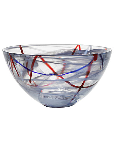 Kosta Boda Contrast Medium Bowl, Grey