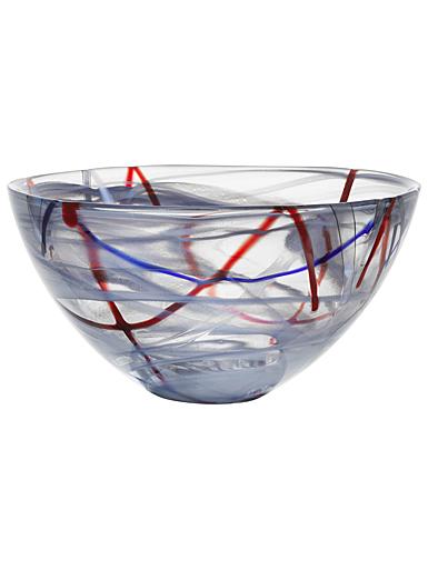 Kosta Boda Crystal Contrast Large Bowl, Grey