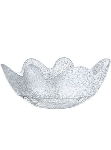 Kosta Boda Organix Medium Crystal Bowl, Frosty White