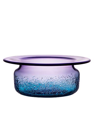 Kosta Boda Aurora Blue and Violet Bowl