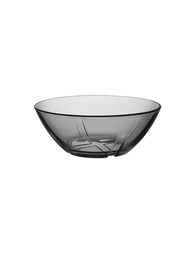 Kosta Boda Bruk Smoke Grey Crystal Bowl, Set of Four